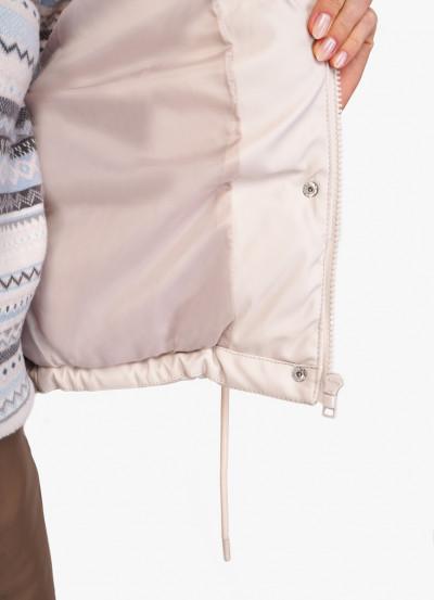 Стеганая куртка из эко-кожи